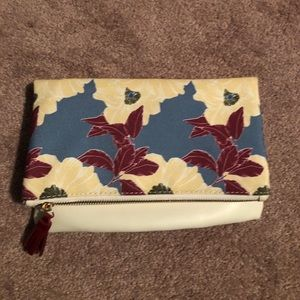 Floral Rachel Pally reversible Clutch, never used